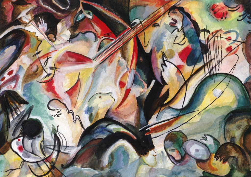 Composition 6 painting by Wassily Kandinsky