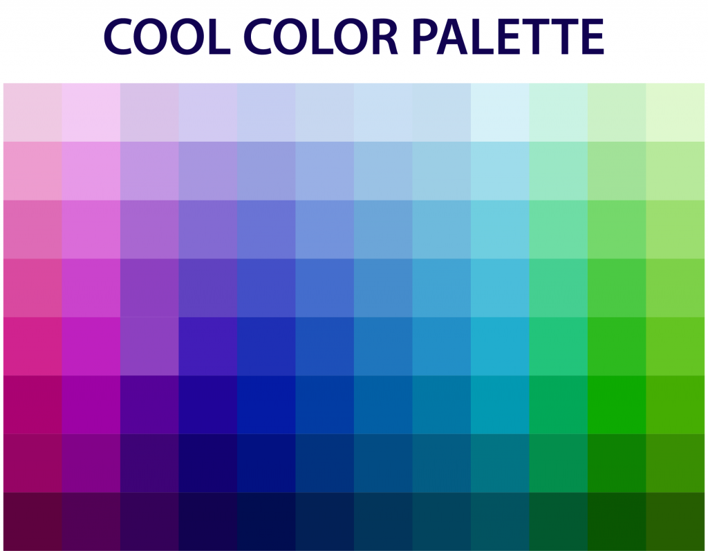 Color palette with cool tones