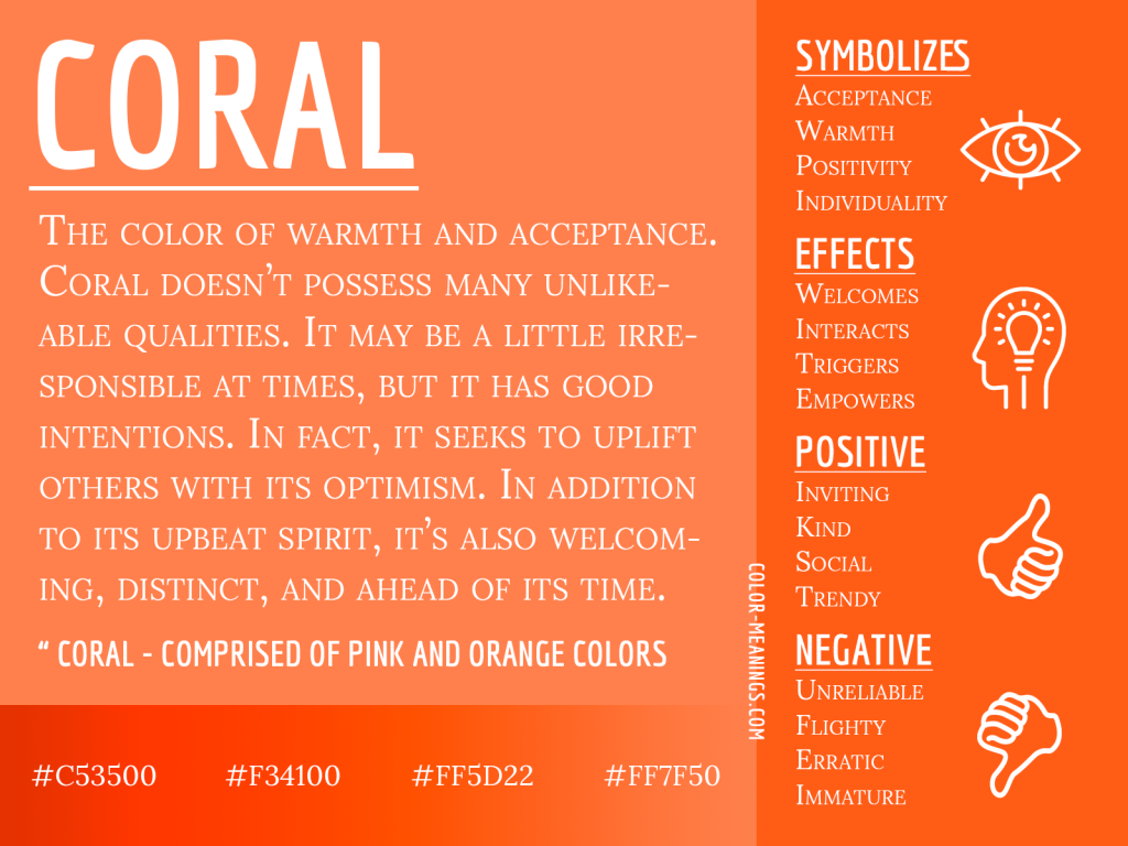 Coral Color Meaning Infographic