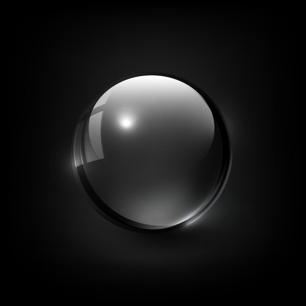 Illustration of dark black ghost orb