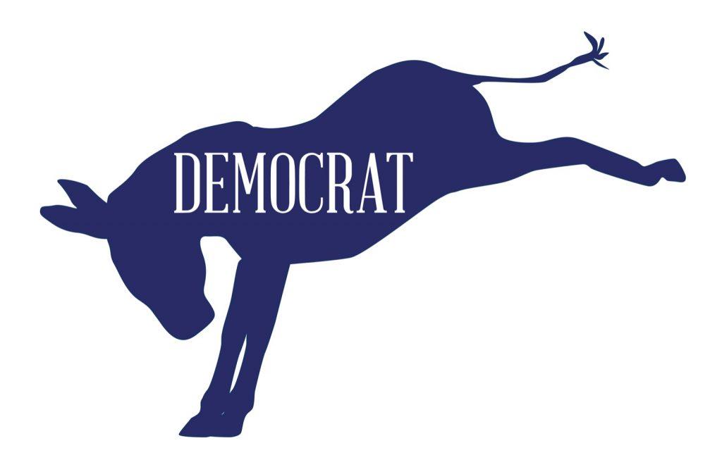 Democrat blue donkey symbol