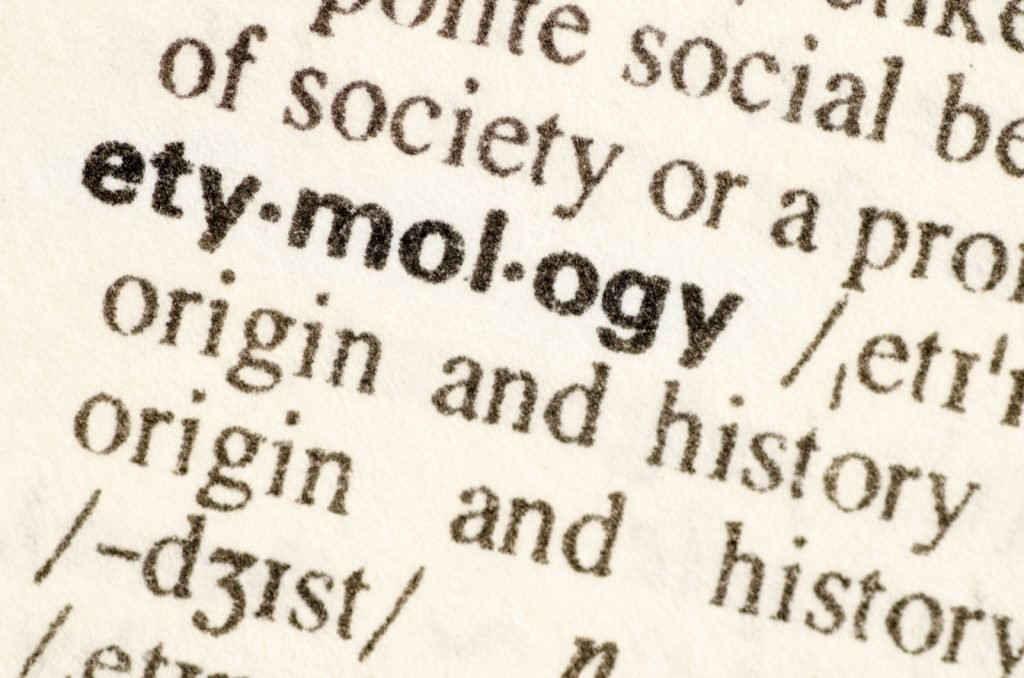 Definition of the word etymology in a dictionary