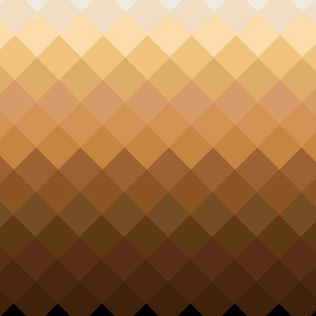 Color palette with different brown shades from light to dark