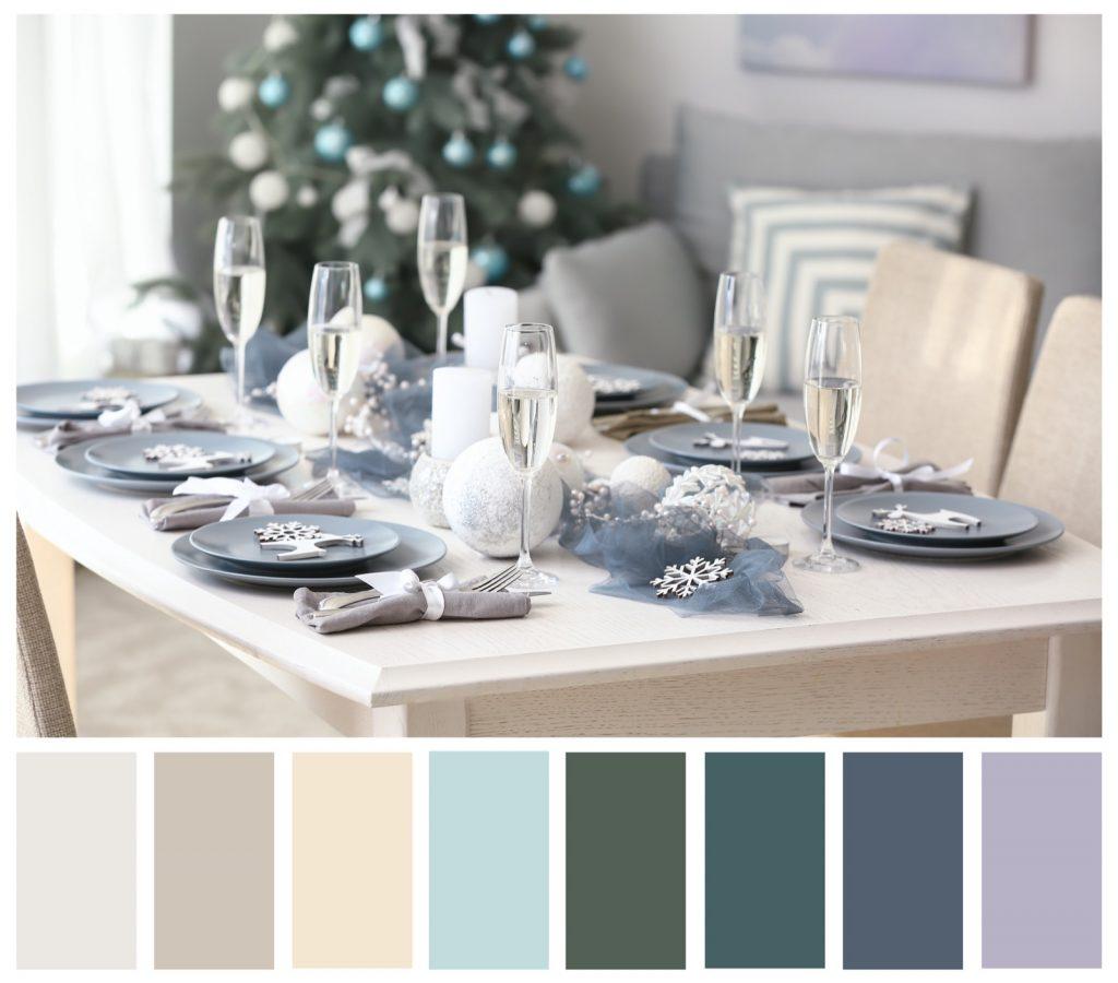 Elegant Lavender and Beige