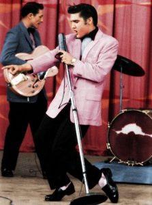 elvis presley pink suit