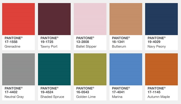 fall autmun color trends for 2017