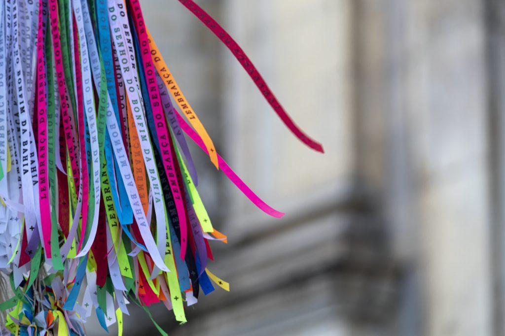 Fitas do Senhor do Bonfim ribbons in different colors