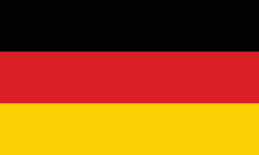 Black red and yellow flag from Germany