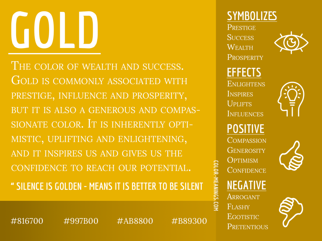 Gold Color Meaning Infographic