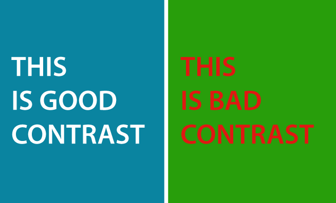 good contrast and bad contrast