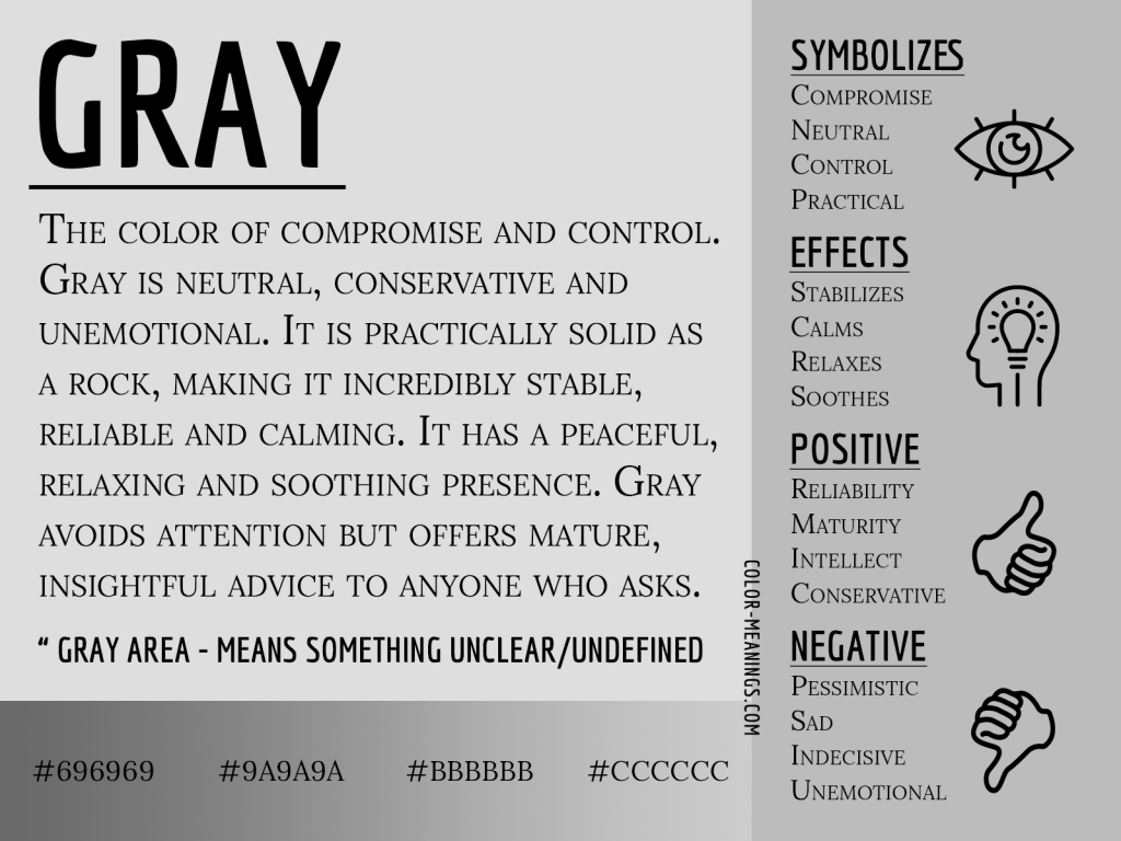Gray Color Meaning Infographic
