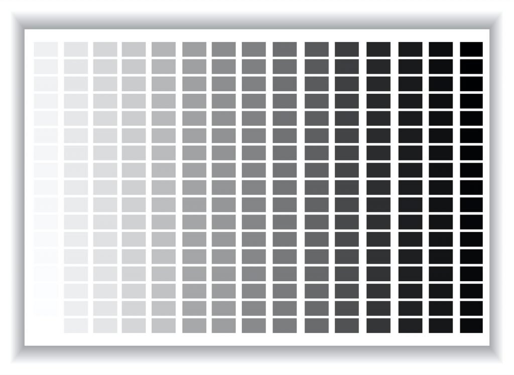 Color palette with many different shades of gray