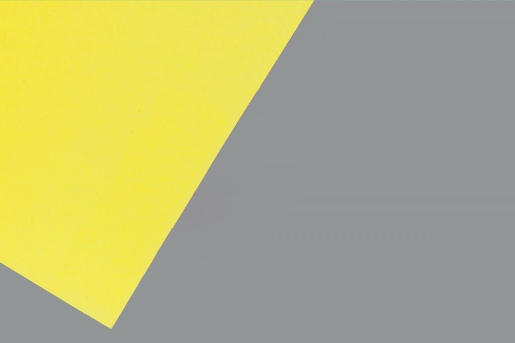 Contrasting dull gray and vibrant yellow complementary colors