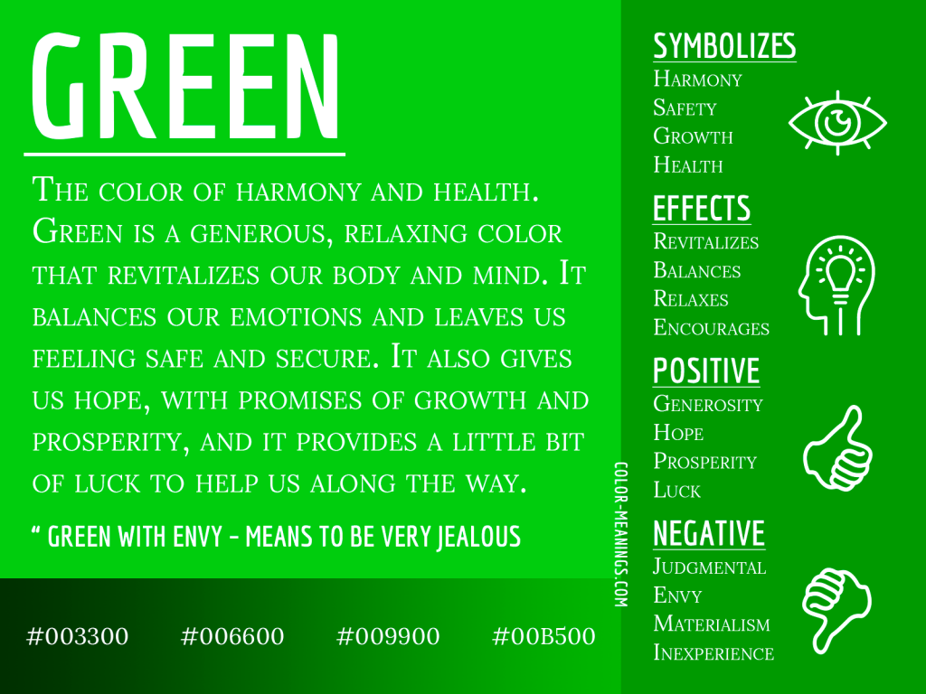 Green Color Meaning Infographic