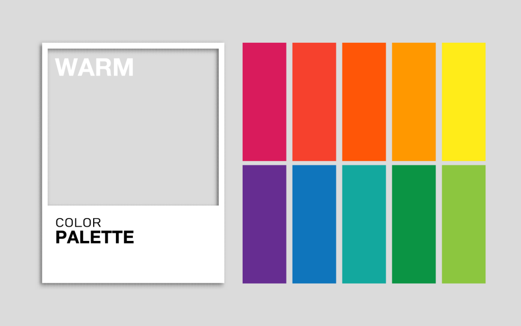 Harmonious warm color palette created with online generator