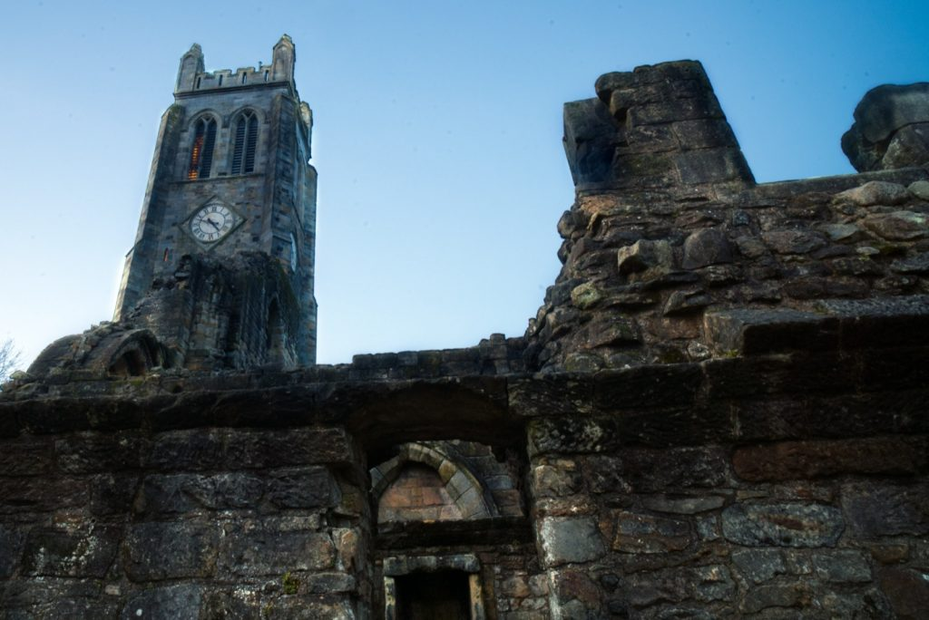 Kilwinning Abbey Tironensian Benedictine monastic community home of the gray monks during the Middle Ages