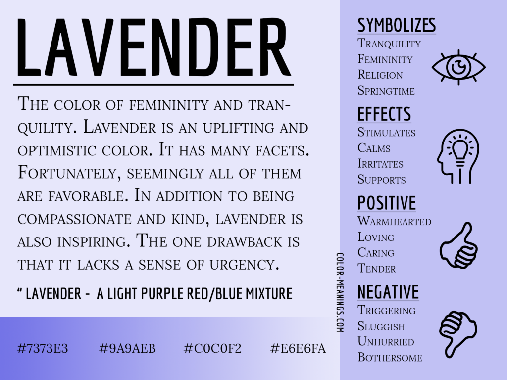 Lavender Color Meaning Infographic