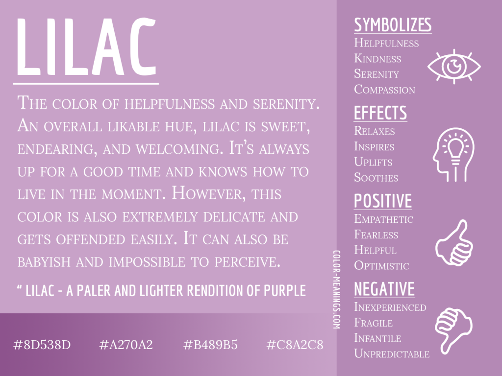 Lilac Color Meaning Infographic