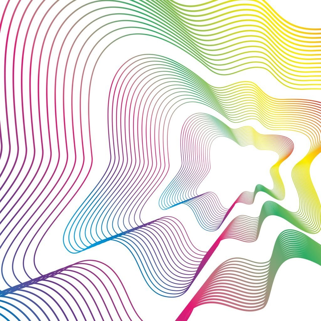 Lines and colors work art background design