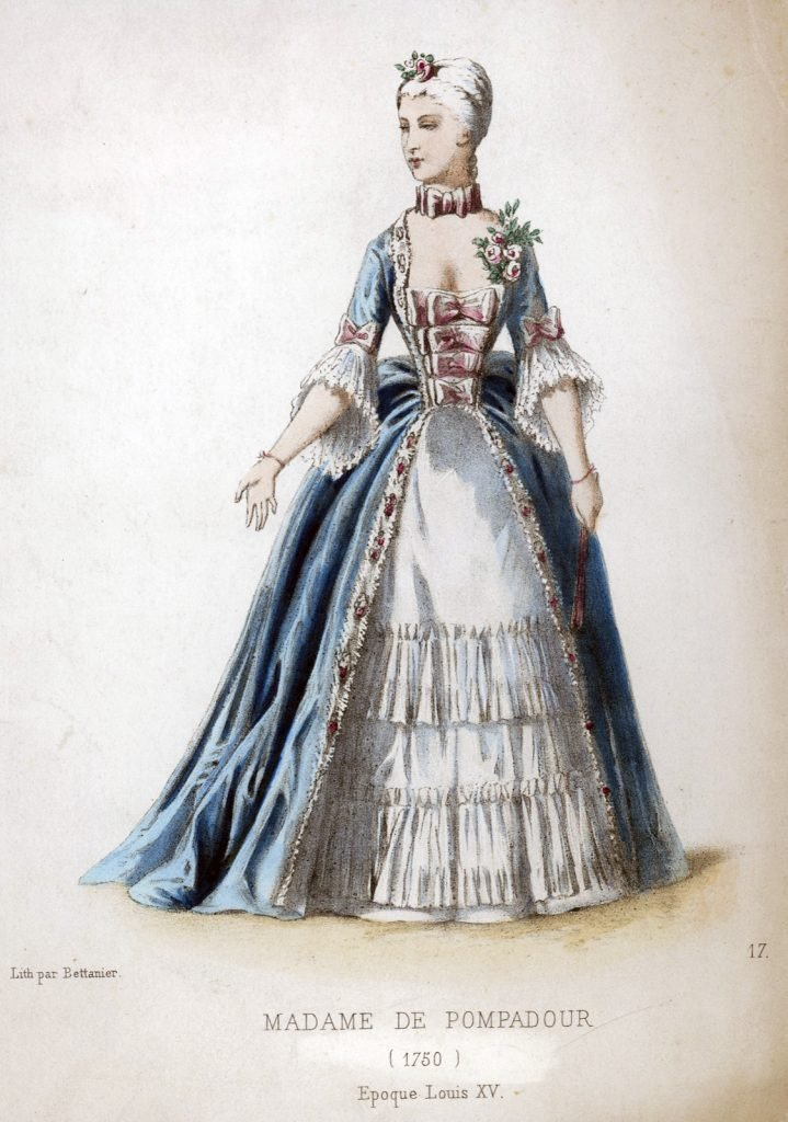 Picture of Madame de Pompadour dated 1750