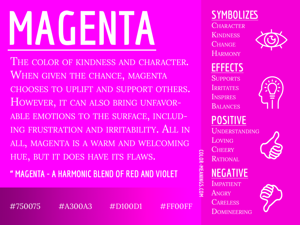Magenta Color Meaning Infographic