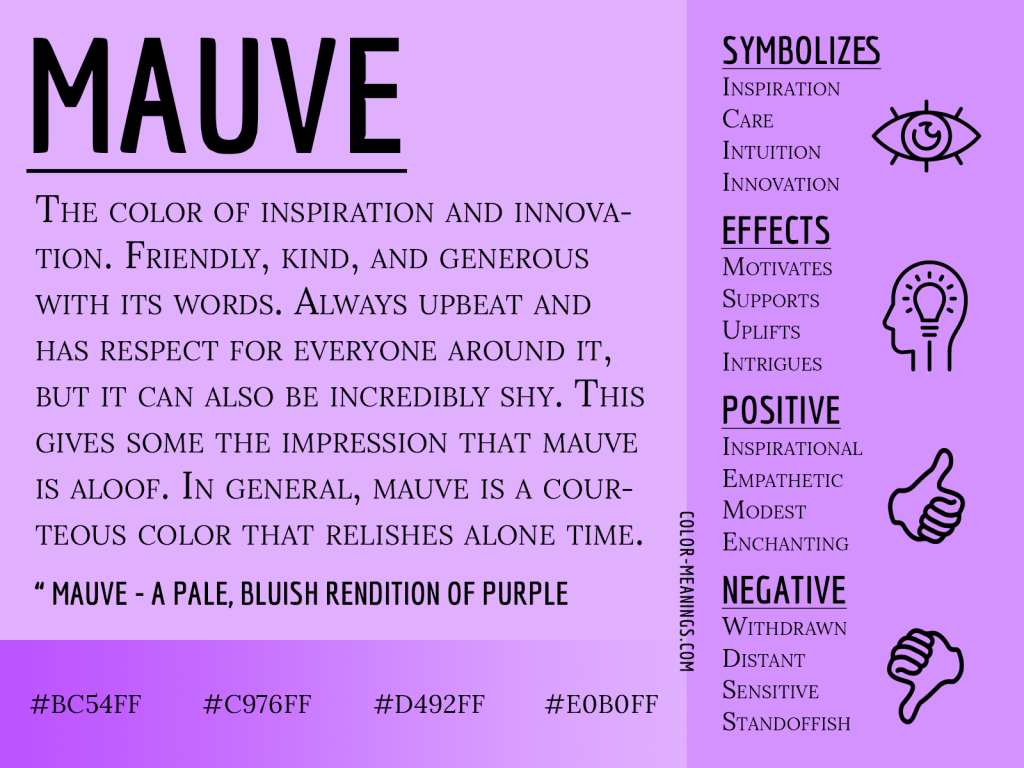 Mauve Color Meaning Infographic