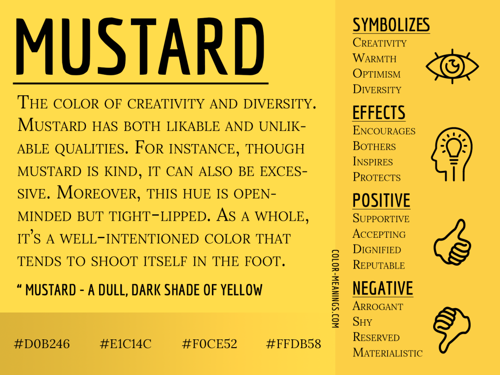 Mustard Color Meaning Infographic