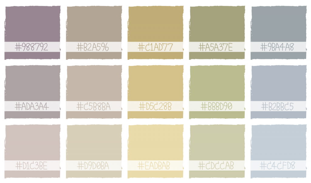 Neutral color palette with hex codes