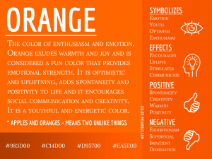 Orange Color Meaning Infographic