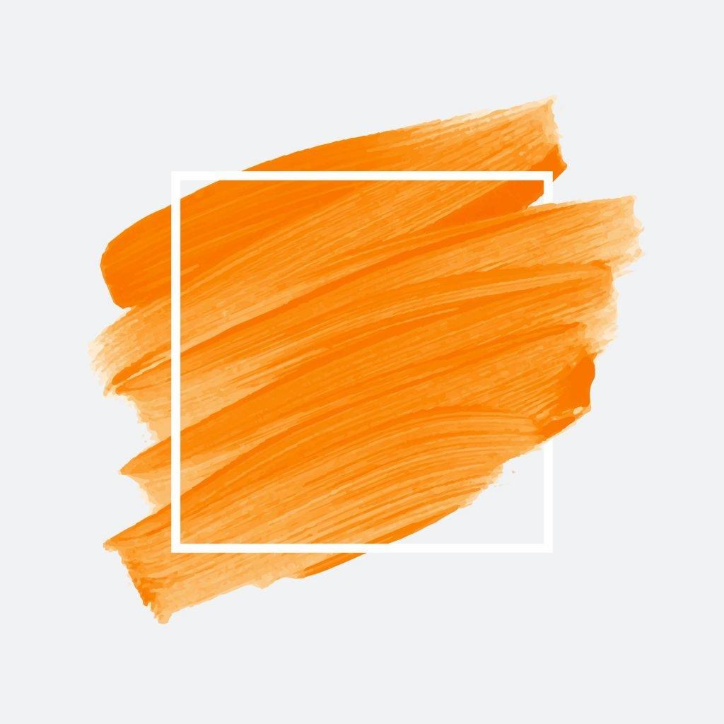 Shades of orange brush strokes