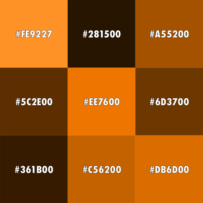 Dark orange color images