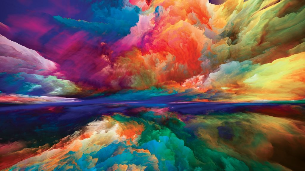Painted dreamland in many different bright colors