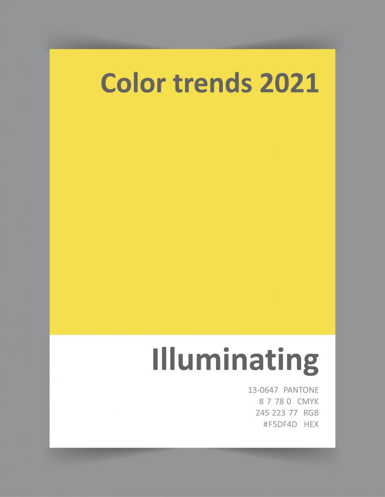 Pantone color 13-0647 Illuminating