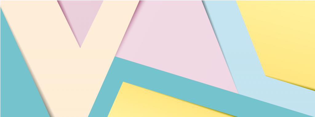 Paper banner made with pastel colors