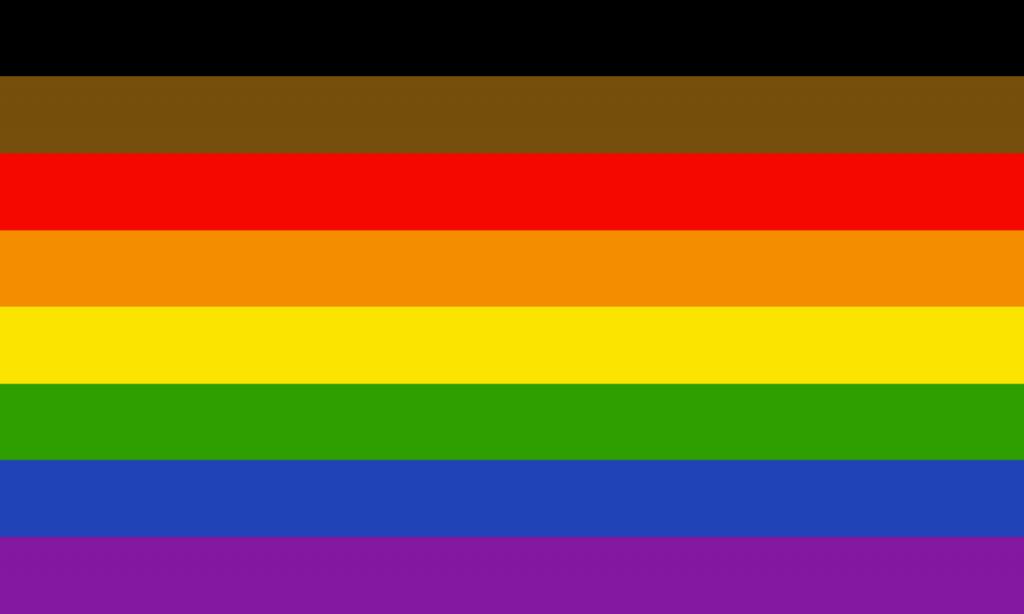 Philadelphia people of color 8-stripe pride flag