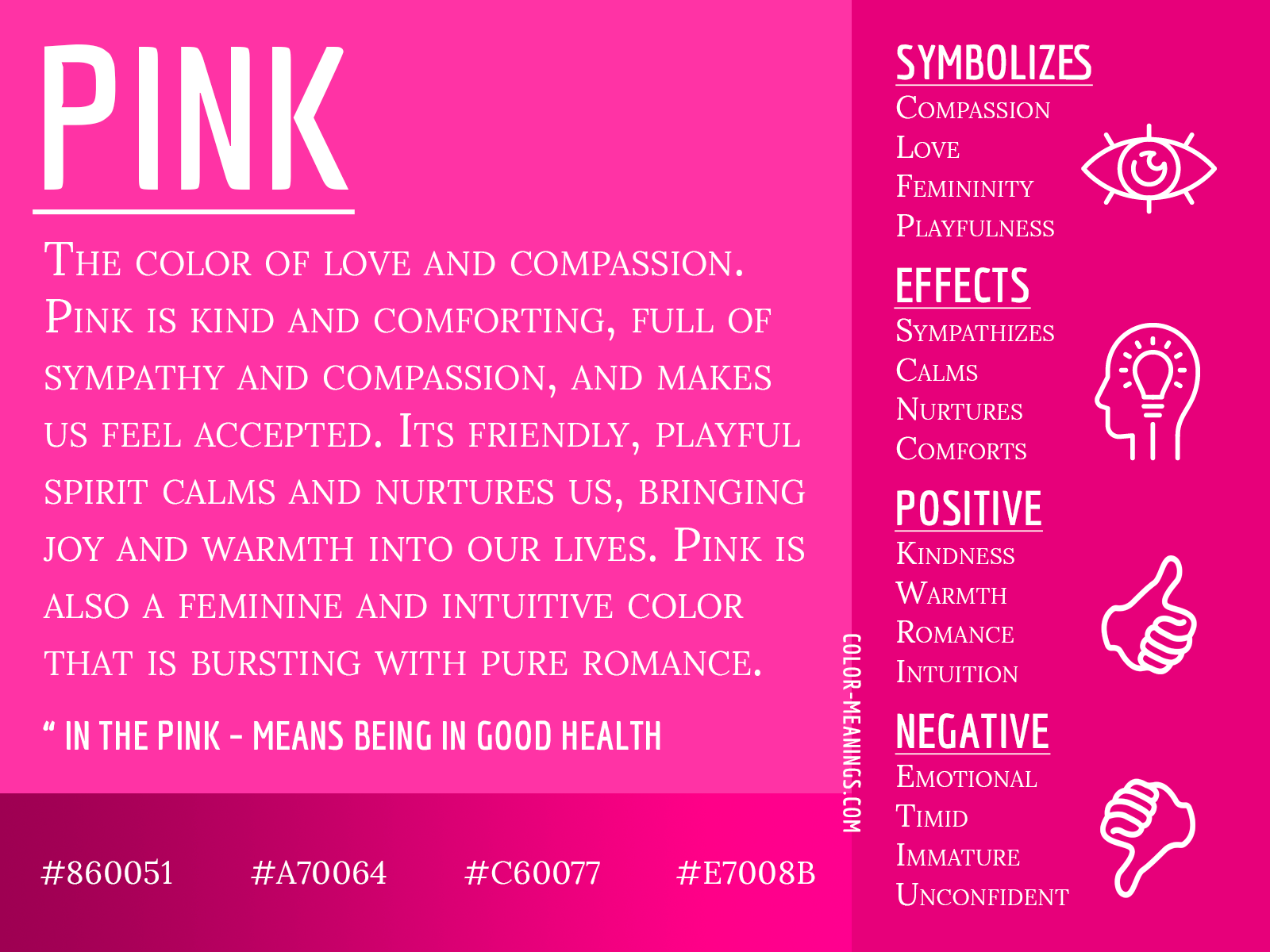 Pink Color Meaning – The Color Pink Symbolizes Love and Compassion