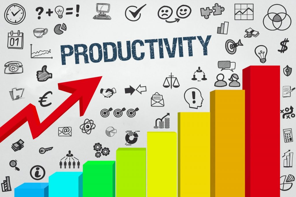 Productivity chart in different colors