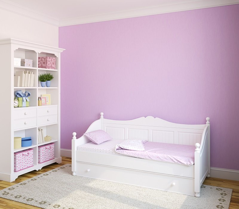 purple color walls for baby room interior design