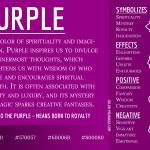 Purple Color Meaning Infographic