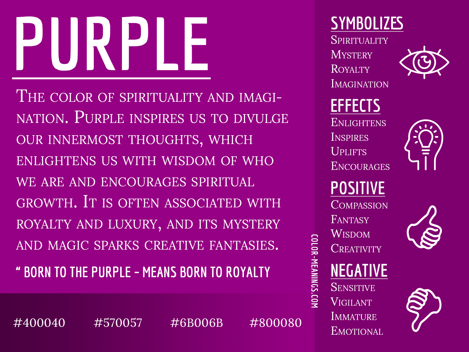 Purple Color Meaning – The Color Purple Symbolizes Spirituality and  Imagination