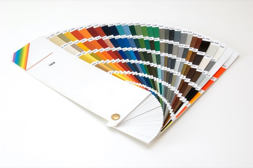 RAL Color System guide used to match and reference colors