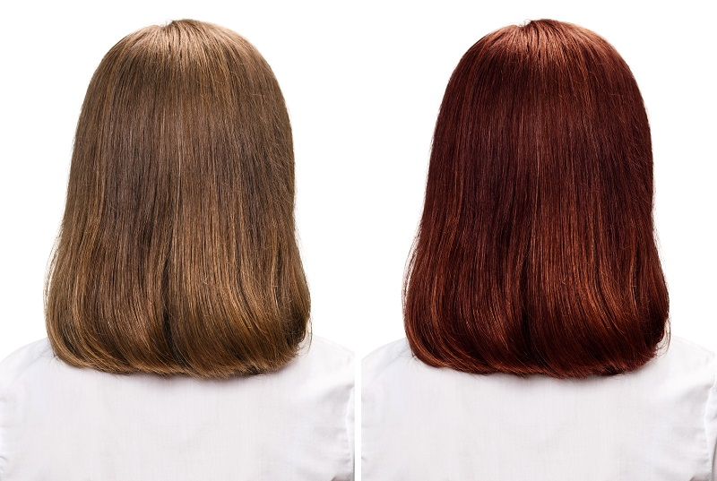 red hair color makeover