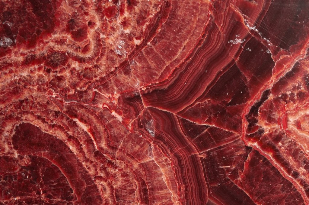 Detailed red onyx stone texture