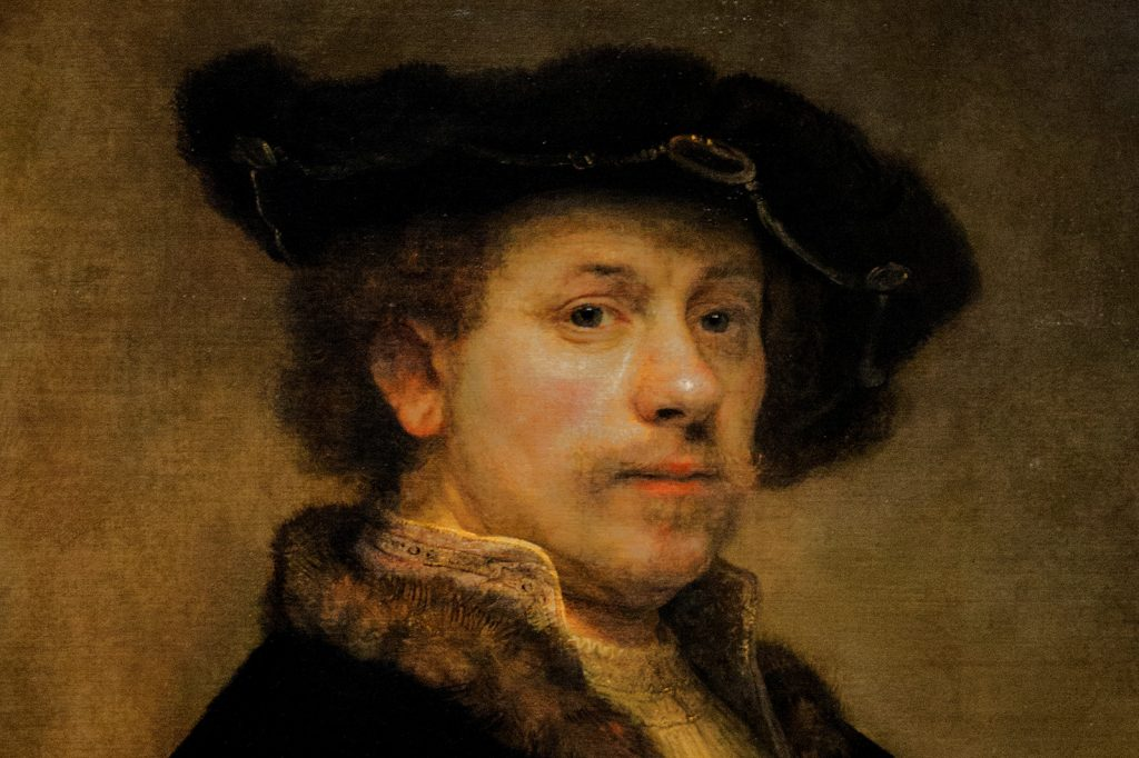Rembrandt self portrait at age 34 painted in the renaissance period