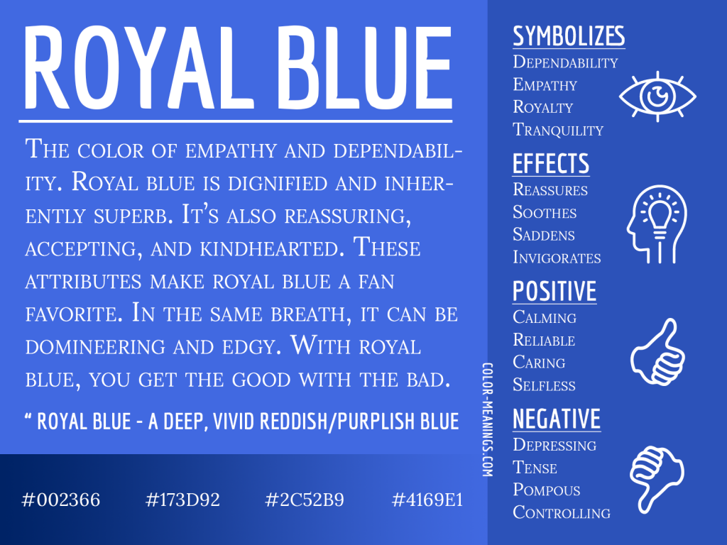 Royal Blue Color Meaning Infographic