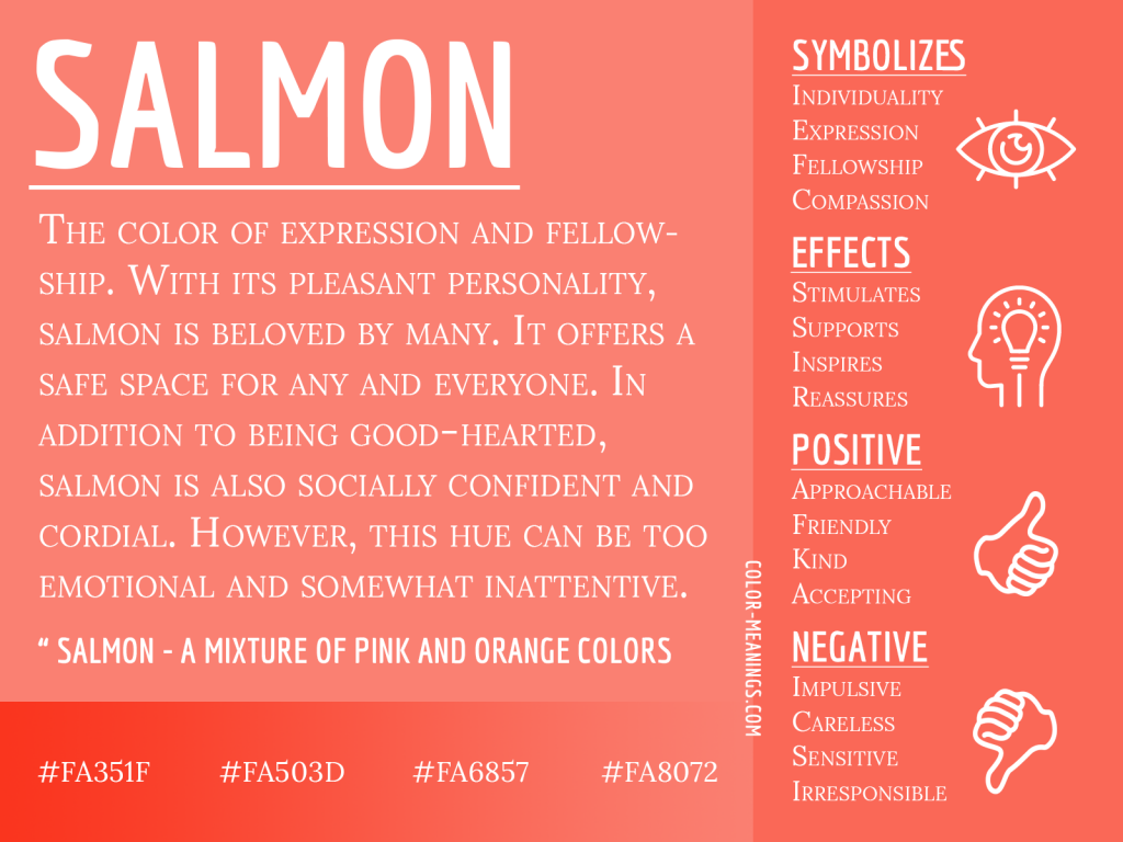 Salmon Color Meaning Infographic