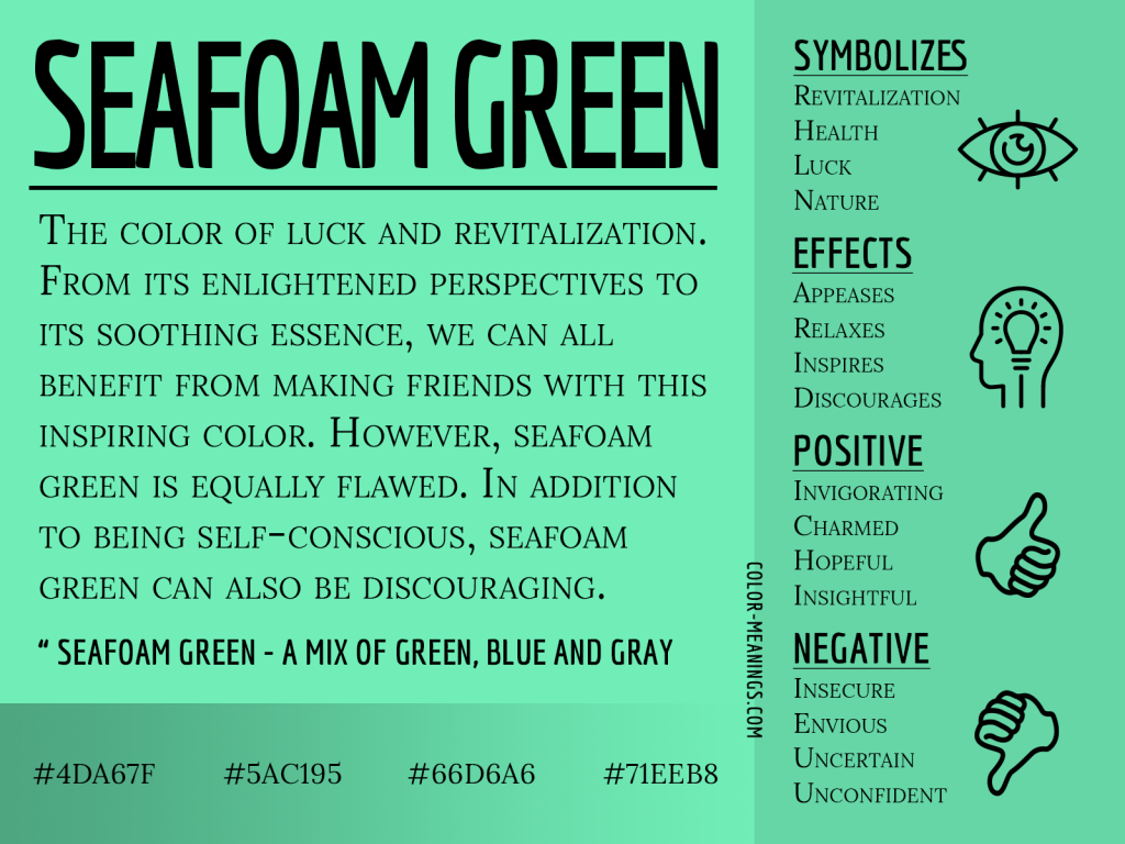 Seafoam Green Color Meaning Infographic