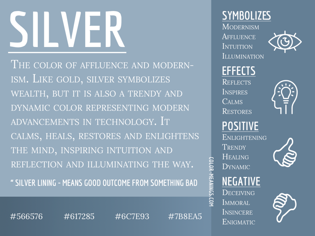 Silver Color Meaning Infographic