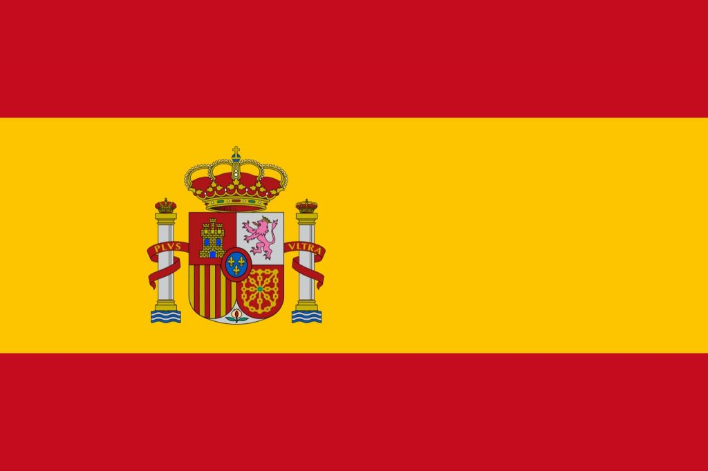 Yellow and red flag from Spain