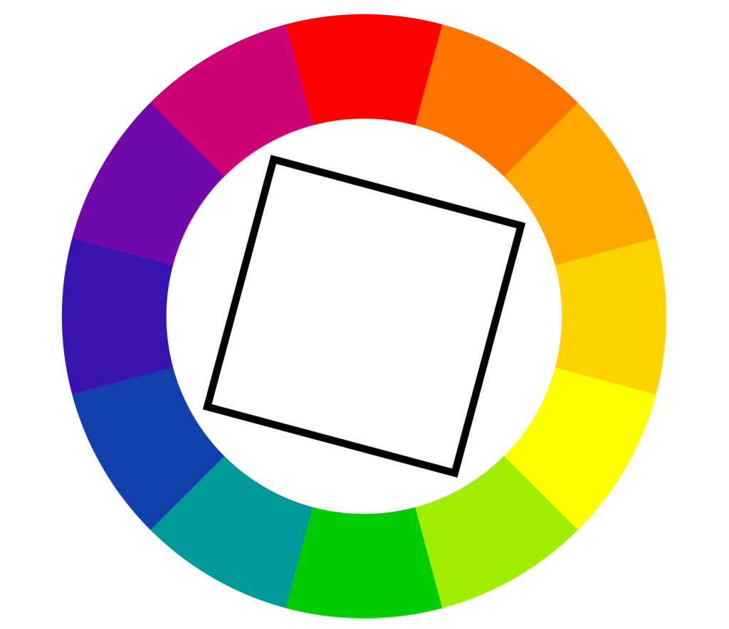 Illustration of square color wheel